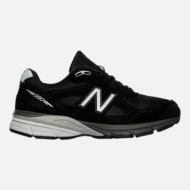 e5e3738f06e3 Right view of Men s New Balance 990 V4 Running Shoes in Black Silver
