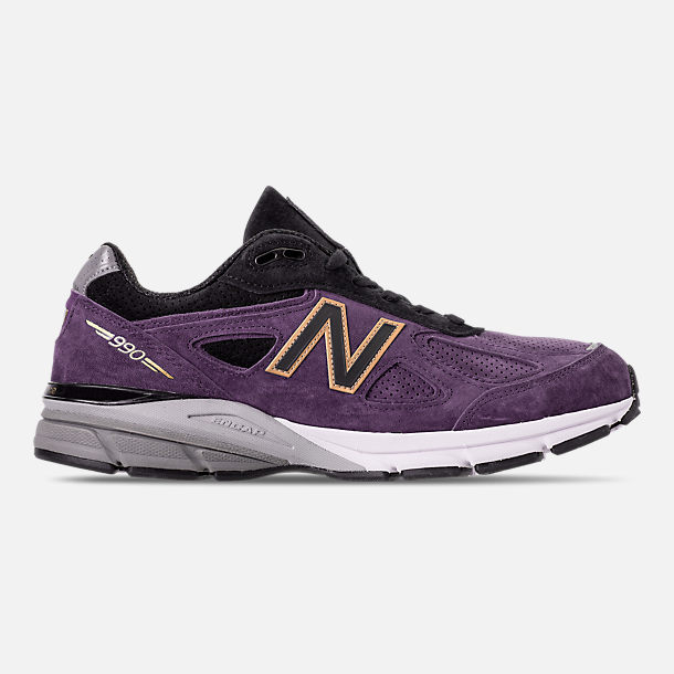 af67e4c3a0a Right view of Men s New Balance 990 V4 Running Shoes in Wild Indigo Black