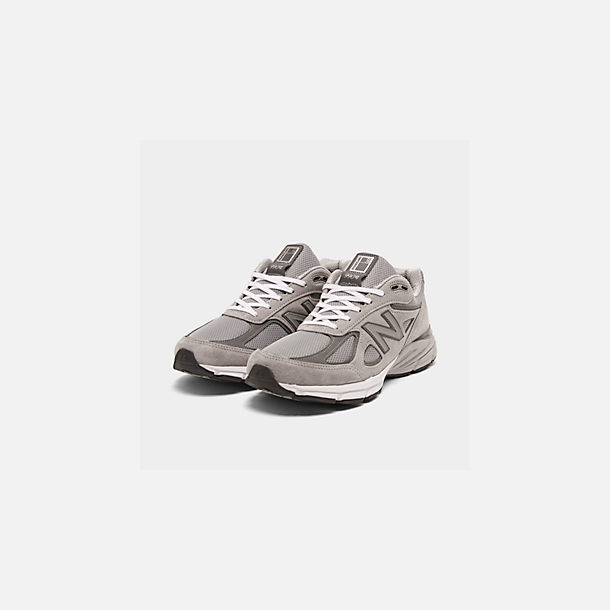 online store 80ca1 e3b9a Three Quarter view of Men s New Balance 990 V4 Running Shoes in Grey Castle  Rock