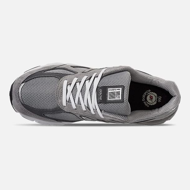 buy online 87b70 44003 Top view of Men s New Balance 990 V4 Running Shoes in Grey Castle Rock