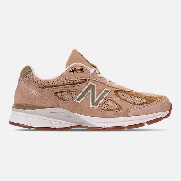 100% authentic 8426b 137c3 Right view of Men's New Balance 990 V4 Running Shoes in Hemp/Linseed