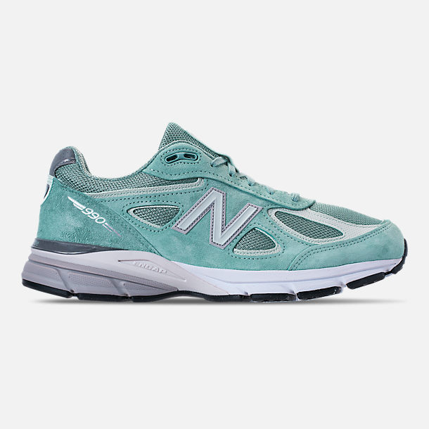 Right view of Men's New Balance 990 V4 Running Shoes in Mineral Sage/Seafoam