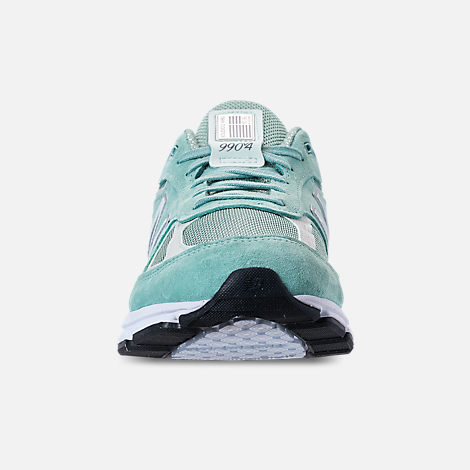 Front view of Men's New Balance 990 V4 Running Shoes in Mineral Sage/Seafoam