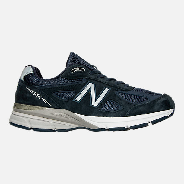 Right view of Men's New Balance 990 V4 Running Shoes in Navy