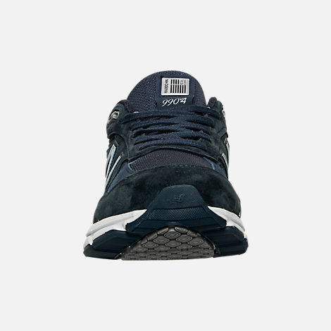 Front view of Men's New Balance 990 V4 Running Shoes in Navy
