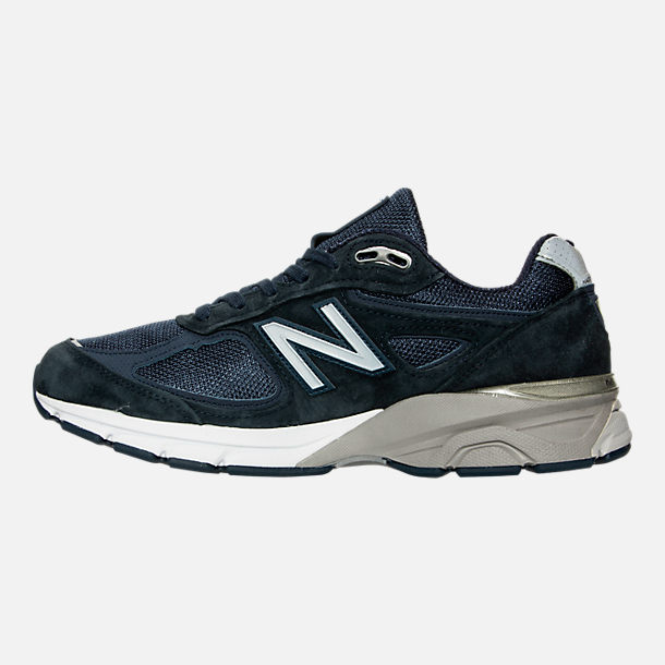 Left view of Men's New Balance 990 V4 Running Shoes in Navy