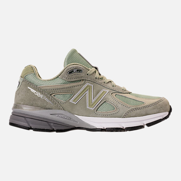 Right view of Men's New Balance 990 v4 Running Shoes in Silver Mint