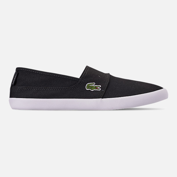Right view of Men's Lacoste Marice Slip-On Casual Shoes in Black/White