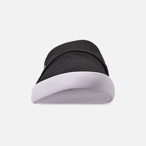 Front view of Men's Lacoste Marice Slip-On Casual Shoes in Black/White