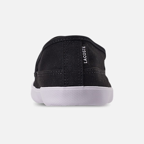 Back view of Men's Lacoste Marice Slip-On Casual Shoes in Black/White