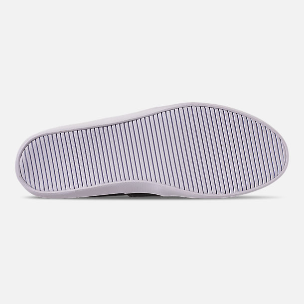 Bottom view of Men's Lacoste Marice Slip-On Casual Shoes in Black/White