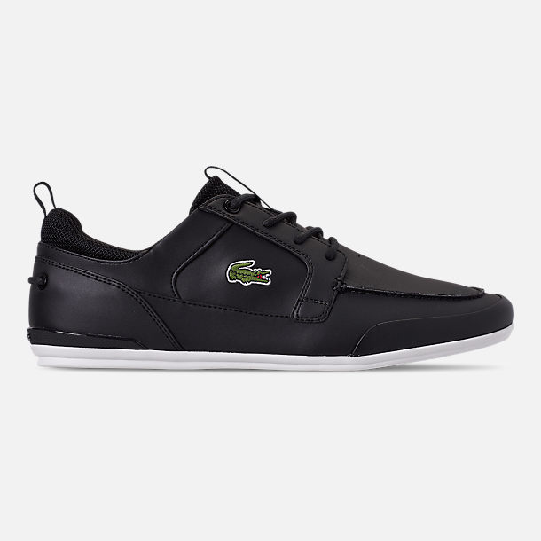 Right view of Men's Lacoste Marina Casual Shoes in Black/White