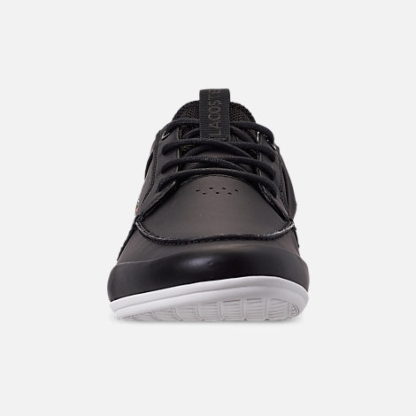 Front view of Men's Lacoste Marina Casual Shoes in Black/White