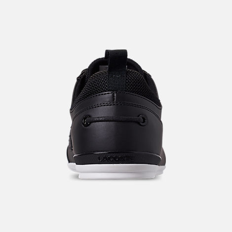 Back view of Men's Lacoste Marina Casual Shoes in Black/White