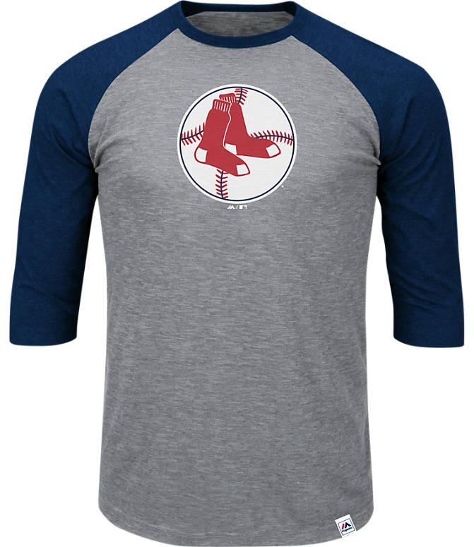 944b4bd8c95 Front view of Men s Majestic Boston Red Sox MLB Margin Raglan T-Shirt