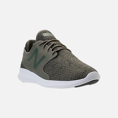 Three Quarter view of Men's New Balance Coast Casual Shoes in Olive