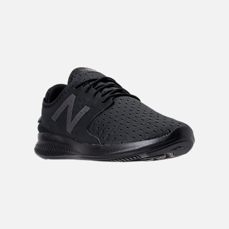 Three Quarter view of Men's New Balance Coast Casual Shoes in Black/Phantom