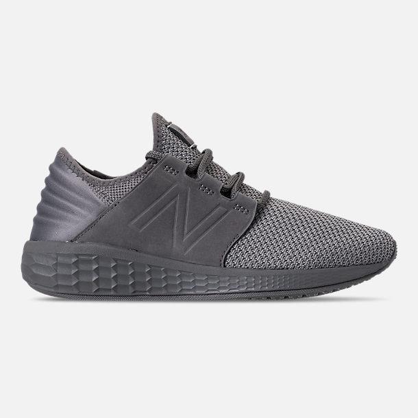ba1236ad1dc62 Right view of Men s New Balance Fresh Foam Cruz V2 Running Shoes in  Castlerock Grey