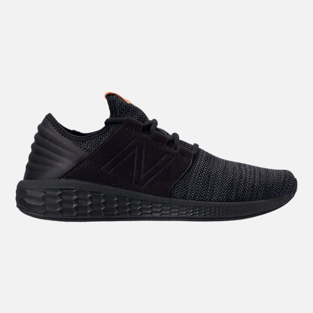 Right view of Men s New Balance Fresh Foam Cruz V2 Running Shoes in  Black Black beffa1623575