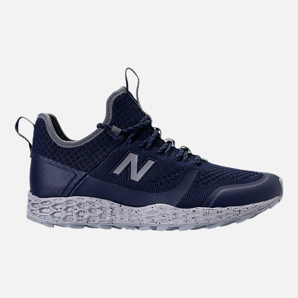 Right view of Men's New Balance Trailbuster Fresh Foam Casual Shoes in Navy/White/Grey