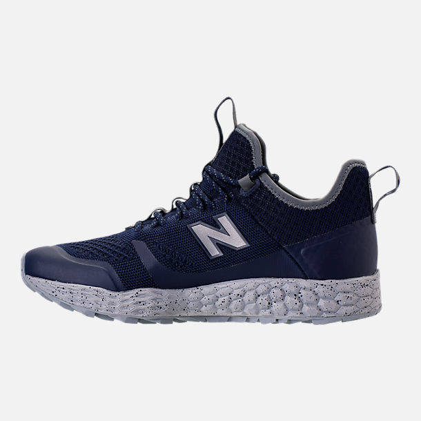 Left view of Men's New Balance Trailbuster Fresh Foam Casual Shoes in Navy/White/Grey