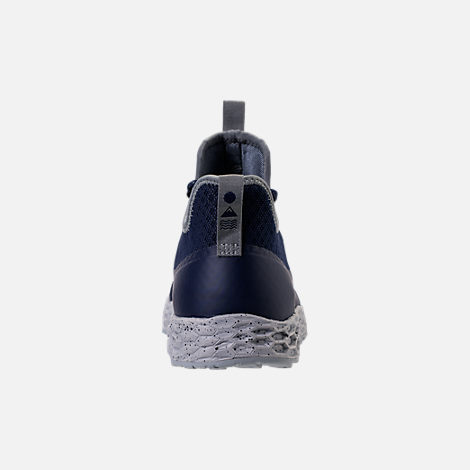 Back view of Men's New Balance Trailbuster Fresh Foam Casual Shoes in Navy/White/Grey