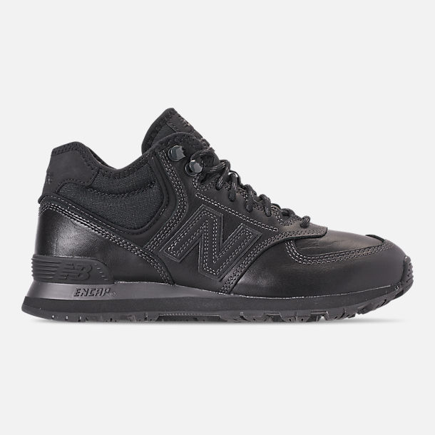 Right view of Men's New Balance 574 Mid Casual Shoes in Black/Black
