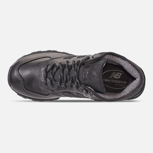 Top view of Men's New Balance 574 Mid Casual Shoes in Black/Black