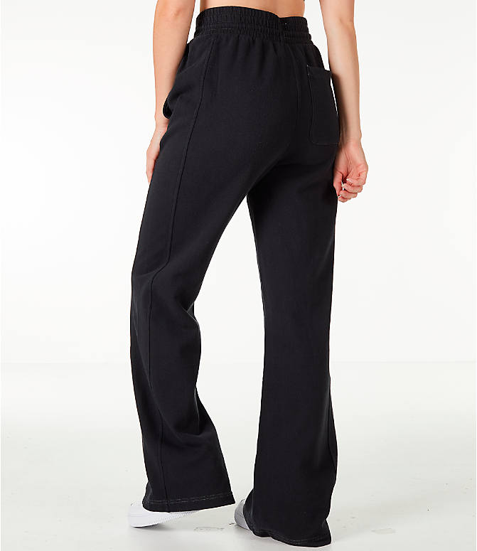 Back Left view of Women's Champion Reverse Weave Vintage Wide Leg Pants in Black
