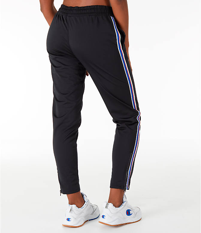 Back Right view of Women's Champion Track Pants in Black