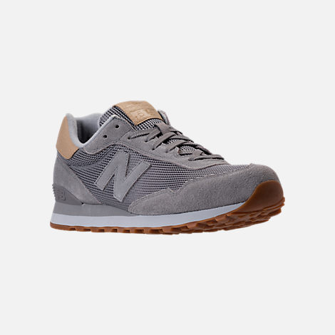 Three Quarter view of Men's New Balance 515 Casual Shoes in Marblehead/Bone