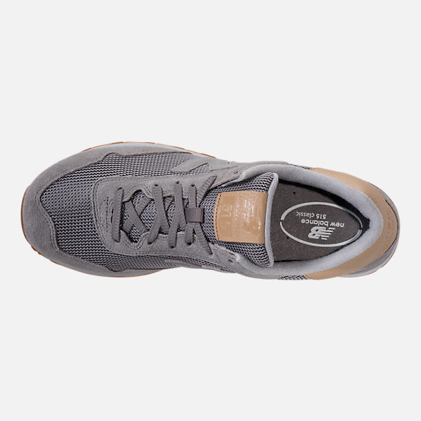 Top view of Men's New Balance 515 Casual Shoes in Marblehead/Bone