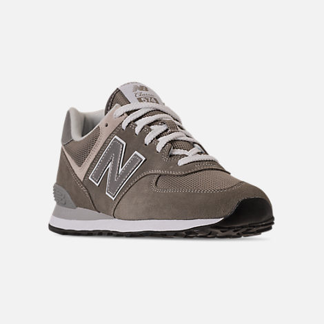 Three Quarter view of Men's New Balance 574 Casual Shoes in Tan/Brown/Grey