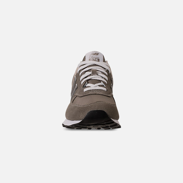 Front view of Men's New Balance 574 Casual Shoes in Tan/Brown/Grey