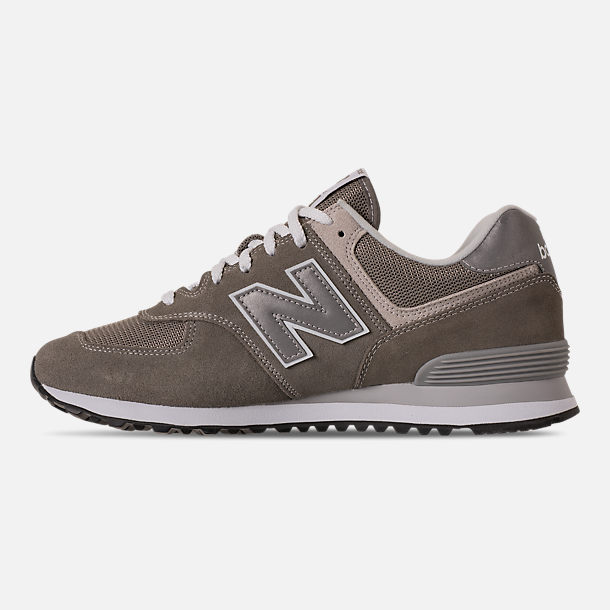 Left view of Men's New Balance 574 Casual Shoes in Tan/Brown/Grey