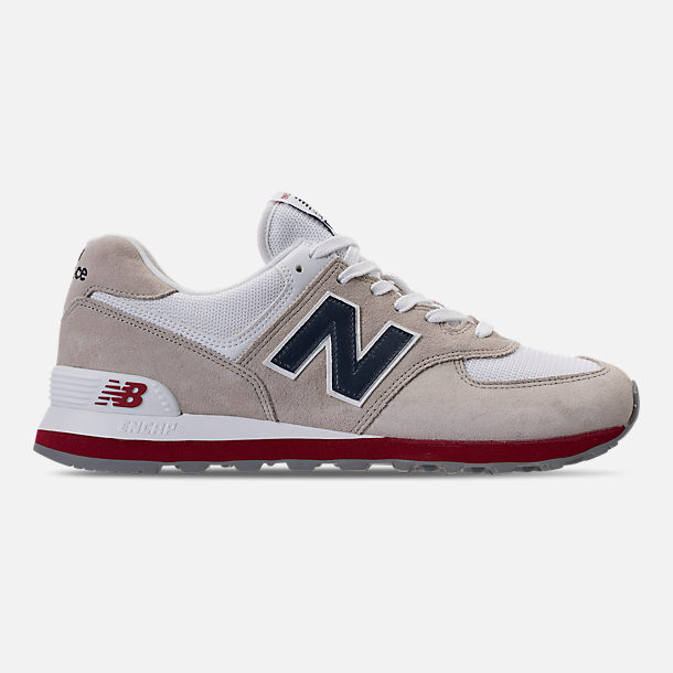 Right view of Men's New Balance 574 USA Casual Shoes in Nimbus Cloud/Navy