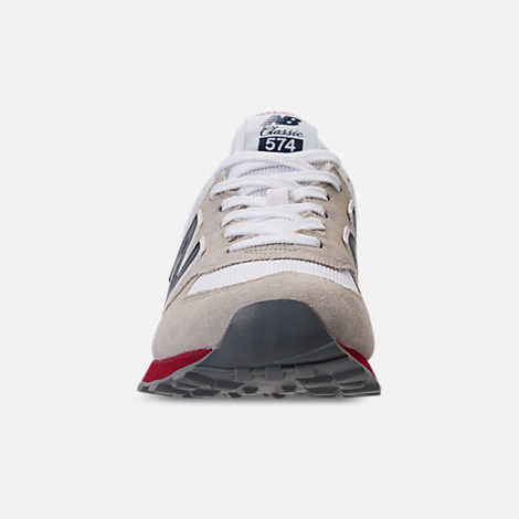 Front view of Men's New Balance 574 USA Casual Shoes in Nimbus Cloud/Navy