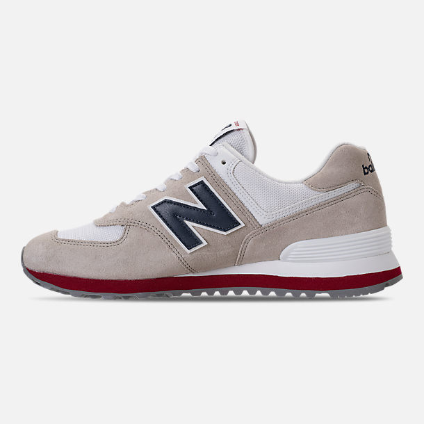 Left view of Men's New Balance 574 USA Casual Shoes in Nimbus Cloud/Navy