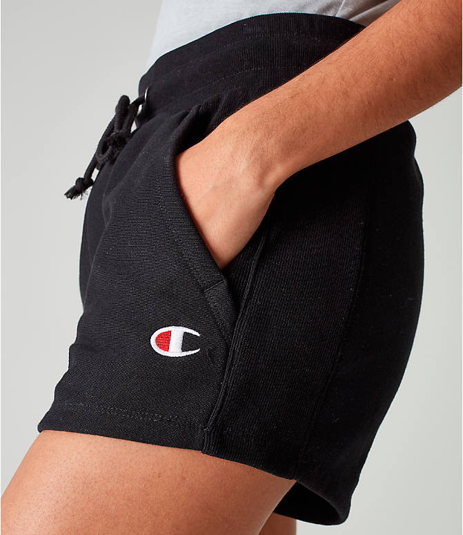 Detail 1 view of Women's Champion Heritage Shorts in Black