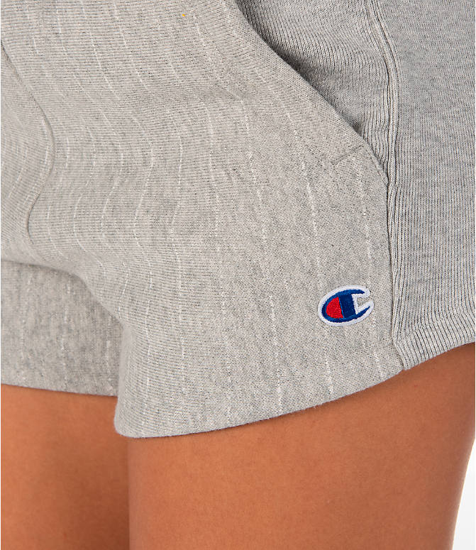 Detail 1 view of Women's Champion Heritage Shorts in Pinstripe Grey