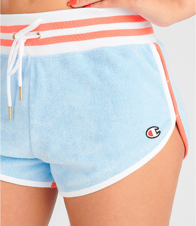Detail 1 view of Women's Champion Life Terry Shorts in Oceanfront Blue