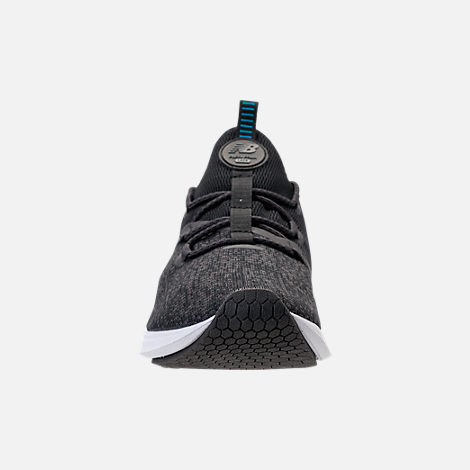Front view of Men's New Balance Fresh Foam Lazr Knit Running Shoes in Phantom/Black