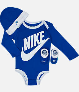 Infant Nike Long Sleeve Futura 3-Piece Box Set (Size 6-12 Months)