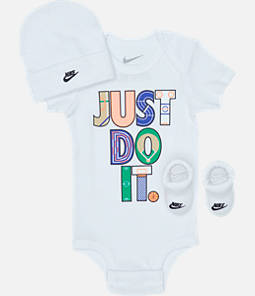 Infant Nike Geo Just Do It (6-12 Months) 3-Piece Box Set