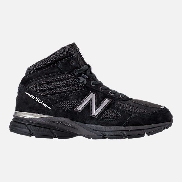 3ea619a98c5e Right view of Men s New Balance 990 V4 Mid Running Shoes in Black Grey
