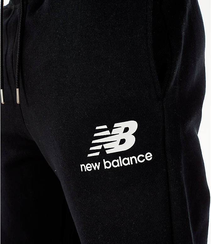 Detail 1 view of Men's New Balance Essentials Brushed Sweatpants in Black