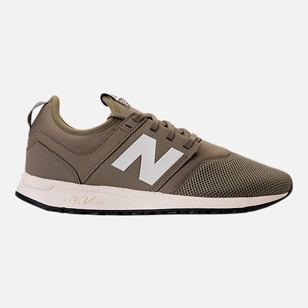 Right view of Men's New Balance 247 Classic Casual Shoes in Khaki/White