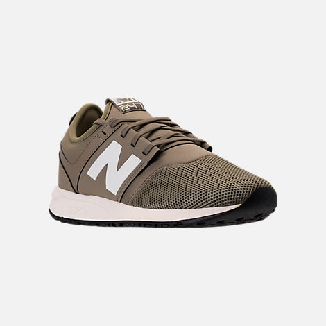 Three Quarter view of Men's New Balance 247 Classic Casual Shoes in Khaki/White