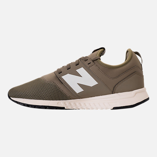 Left view of Men's New Balance 247 Classic Casual Shoes in Khaki/White