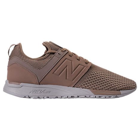 New Balance Men S 247 Knit Casual Sneakers From Finish Line In Brown ... f5272ed944ac